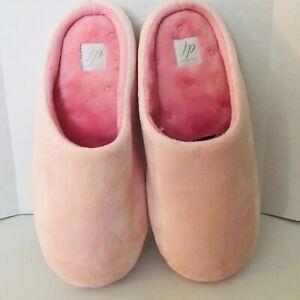 Dearfoams Women's Pink Slippers Size 7-8 m Slip On Mule Style