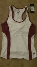 Prince Women's Tennis Tank Top size L, White and maroon, brand new with tags
