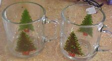 42 Libbey christmas tree  glass mugs