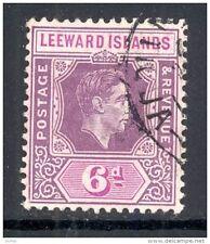 LEEWARD ISLANDS,1938 6d (chalky paper) purple & bright magenta VFU,SG109b, (D)
