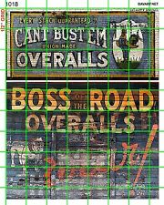 1018 DAVE'S DECALS - EXTRA LARGE BOSS ROAD CAN'T BUST'EM OVERALL GHOST SIGNAGE