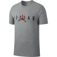 Nike Air Jordan AJ85 Heritage Logo Tee Mens T-Shirt Grey Size M Sportswear