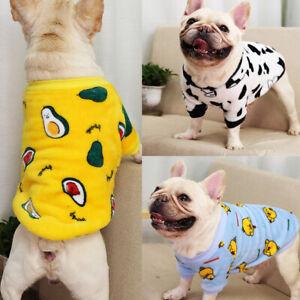 Cartoon Warm Fleece Pet Small Dog Sweater Pajamas Puppy Cat Coat Clothes Spring