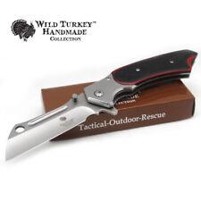 Wild Turkey Handmade Heavy Duty Spring Assisted Razor Style Pocket Knife