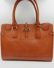 Salvatore Ferragamo Briana Satchel Tote Bag Orange Saffiano Leather Gancio