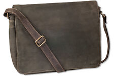 Woodland Luxury Shoulder Bag/Laptop Bag from Fine Buffalo Leather in Brown