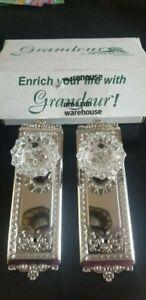 Grandeur Nostalgic WINFON Complete Passage Set Crystal DoorKnob w/o Key Hole NEW