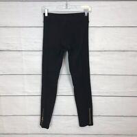 Lululemon Lab Future Varsity Tight Pants Size 6 Black Ankle Zipper Limited