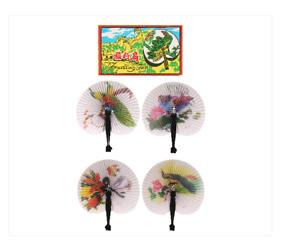 HENBRANDT 6 Folding Paper Fans - Pretty Chinese Designs Girls Party Bag Filler