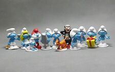 The Smurfs Smurfette Brainy Clumsy Papa Smurf Figure Set of 12pcs NEW AU