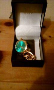 AKRIBOS XXIV MENS WATCH WINDING DIAMOND DiAL BLUE PRESENTATION CASE NEVER USED