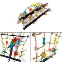 Pet Parrot Bird Climbing Net Cage Toy Swing Ladder Macaw Play Hanging Rop TTT
