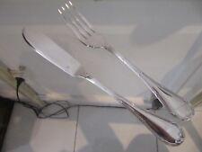 couvert à poisson métal argenté Christofle Rubans LXVI (fish fork & knife)