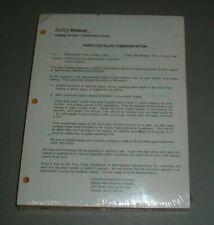 Bally Parts Catalog Supplement 16-9147-B (Yellow Catalog) - Original