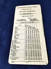 1967 Pennsylvania Railroad Conductors Tariff # 36