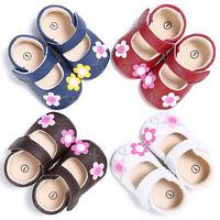 Toddler Newborn Baby Girl Floral Crib Shoes Soft Sole Pram Anti-slip Sneakers KW