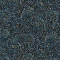 Robert Kaufman Paisley Prints Navy Blue BTY SB4214D13 fabric new