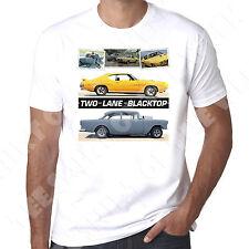 Two Lane Black Top Pontiac Gto 1955 Chevy 70's Road Movie  Retro Mens T-shirt