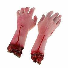 Fake Human Severed Arm Hands 1 Pair Bloody Dead Body Parts Halloween