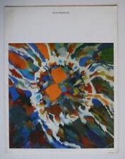 MENU AIR FRANCE Illustration MANESSIER Alleluia Pascal 1964