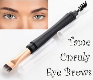 flat eyebrow eyeliner brush and spoolie double ended