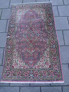 schöner, alter Orientteppich__Seidenteppich__128 x 74cm_ !