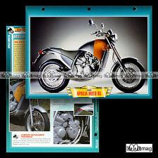 #401.48 Fiche Moto APRILIA 650 6.5 STARCK 1990's Motorrad Motorcycle Card