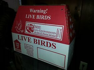 6 Pack Horizon Shipping Boxes for Live Birds.  Poultry, Pheasant, Chukar, Pigeon