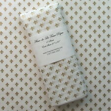 "Gift Wrap Tissue Paper - Gold Fleur de Lis on white tissue - 10 sheets 20"" x 30"""