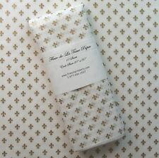 "Tissue Paper/Gift Wrap - Gold Fleur de Lis on White Tissue - 10 sheets 20"" x 30"""