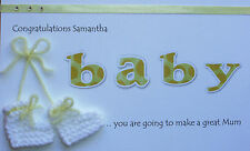Personalised Mum To Be Congratulations Card Baby Shower/ Adoption /IVF Pregnancy