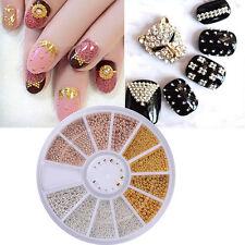 3D Micro Beads Nail Art Rhinestones Caviar Tips Decoration Manicure Wheel DIY