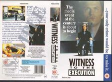 Witness To The Execution VHS Video Promo Sample Sleeve/Cover #8626