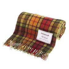 Edinburgh-escocés Tartan Alfombra De Lana Pura/Manta/Cobertor-Buchanan Otoño