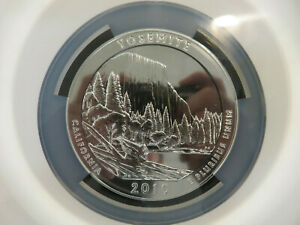2010 ATB Yosemite 5 Oz Silver Coin NGC MS 69 Early Releases Z1212