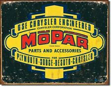 "Mopar Parts and Accessories 12.5"" x 16"" Tin Sign - T1314"