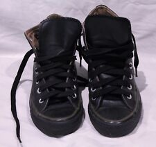 UNISEX CONVERSE CHUCK TAYLORS HITOP BLACK LEATHER BOOTS MENS 3 WOMENS 5 EX RP120