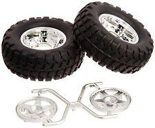 Tamiya 54554 (OP1554) CC01 Rock Block Tires w/2pc 5-Spoke Wheels