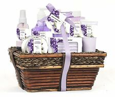 spa gift baskets for women | 8 Pc set | Mothers Day Gift Idea | Lavender Vanilla