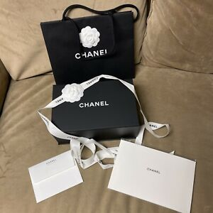 Authentic Chanel Magnetic Gift Box Set 10.25x6.5x4.25 Inch with Gift Bag…