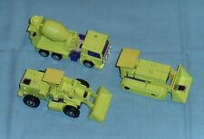 original G1 Transformers lot MIXMASTER SCRAPPER BONECRUSHER Devastator