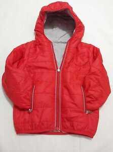Giubbotti reversibile abbigliamento neonato rosso zip cerniera taglia 0-3 anni