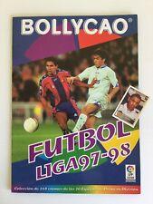 Álbum Bollycao Fútbol Liga 97-98 LFP incompleto + 1 cromo repetido