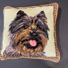 Cairn Terrier needlepoint 10� accent pillow
