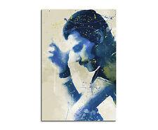 90x60cm PAUL SINUS Splash Art Gemälde Kunstbild Freddie Mercury VII Aqua