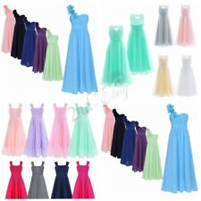 Kids Chiffon Flower Girl Dress Party Formal Wedding Bridesmaid Pageant Prom Gown
