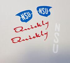 NSU Quickly N S Urquickly * Aufkleber SET * Sticker Logo Abziehbilder