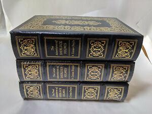 Easton Press The Complete Sherlock Holmes by Sir Arthur Conan Doyle 3 volumes