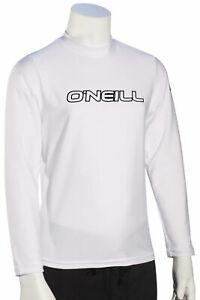 O'Neill Kid's Basic Skins LS Surf Shirt - White - New