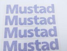 "Fishing Decals 4 Mustad Vinyl Sticker 7"" Width Blue Glossy"
